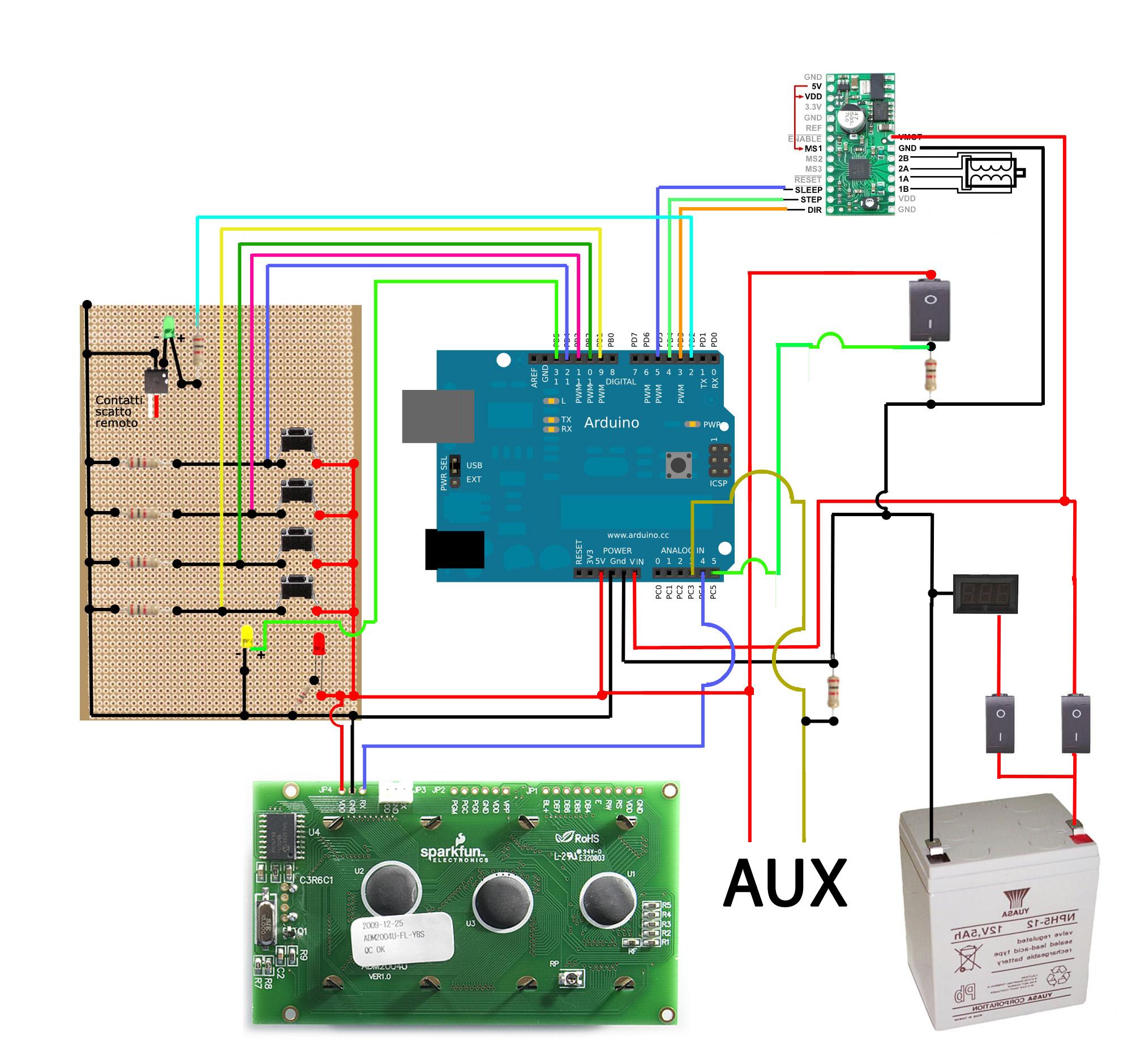 Schema Elettrico Zip : Schema elettrico software e hardware per timelapser